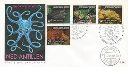 Netherlands Antilles 1965 Curacoa Coral Diver FDC Cover - Kunst- Und Turmspringen