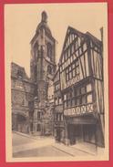 CPA 76  - ROUEN - Le CREDIT LYONNAIS - Rue Du GROS-HORLOGE _ TBE *2 SCANS - Rouen