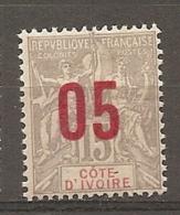 COTE IVOIRE - Yv. N° 36   *  05 S 15cc  Surchatgés Cote  1,7 Euros  BE R  2 Scans - Ivory Coast (1892-1944)