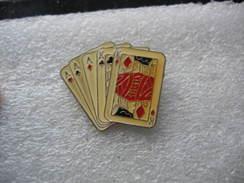 Pin's Jeu De Cartes: 3 As Et 2 Rois (FULL) - Games