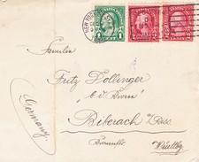 New York 1924, Brief Nach Biberach - 1847-99 Unionsausgaben