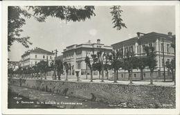 Macedonia Bitola 1943.Bulgarian Postcard.bank And Gymnasium - Macédoine