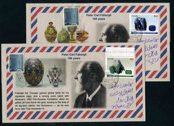 Pakistan 2012 Set On 4 Circulated Covers - Minerals Gemstones Jewelry Faberge - Minerals