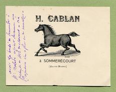 "SOMMERECOURT  (52) : "" HARAS De CHEVAUX  H. CABLAN ""  (1914) - France"
