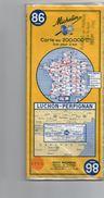 712z  Carte Routiere Michelin Plastifiée Luchon Perpignan - Roadmaps