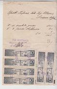 FISCALI MARCHE IMPOSTA SULL'ENTRATA VENDITE AL MINUTO SU RICEVUTA 1941 - Fiscales