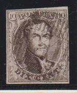 Belgique N°10A 10c Oblitération D31 De LOOZ Pour Marges Voir Scans COBA + 40 - 1858-1862 Medaglioni (9/12)