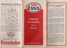 712z  Esso Repertoire Kilométrique De La France Distance Entre Villes Par Regions - Cartes Routières