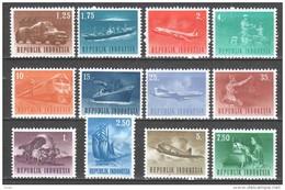 Indonesia 1964 Mi 435-438 + 446-453 MNH TRANSPORT - Indonesië