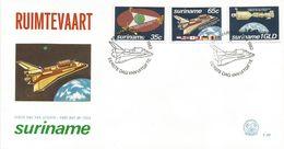 "Surinam Suriname 1982 Paramaribo Space Space Shuttle ""Columbia"" Apollo Sojus FDC Cover - Verenigde Staten"