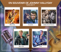 Vignettes Timbres Johnny Hallyday 1943 - 2017 Souvenir Hommage COLLECTOR 5000 Ex - Varia