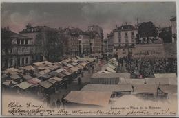 Lausanne - Place De La Riponne - Marche - Photo: W. Stocker - VD Vaud
