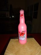 De 2017 - Bouteille De Bière BELZEBUTH PINK - Rose - Avec étiquette - Vide -  33 Cl - - Otras Botellas