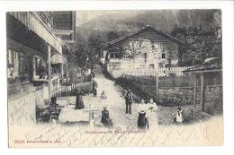 18524 - Dorfstrasse Im Berner Oberland + Cachet Bleu Bonigen - BE Berne