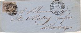 Belgique N°10A 10c Oblitération D40 DEVANT De MONT-St-GUIBERT Vers CHARLEROY Pour Marges Voir Scans Boite (O) De Nil - 1858-1862 Medaglioni (9/12)