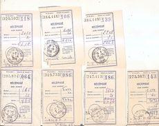 Lot 7 Recepissés De Mandat-suresnes-saint-cloud-années 50 - Documents De La Poste
