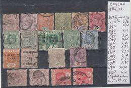 TIMBRES EN LOT DE CELAN Nr VOIR SUR PAPIER AVEC TIMBRES 1885- 72 DONT 1 SIGNEE COTE 29.55 € - Autres - Asie