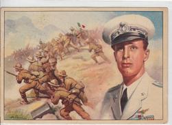 Cartol. Franchigia Viaggiata - Il Duca D'Aosta E L'eroica Difesa Dell'Amba Alagi - 1900-44 Vittorio Emanuele III