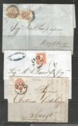 1850/66: Tre Lettere Affrancature Diverse (€ 413) - Lombardo-Veneto
