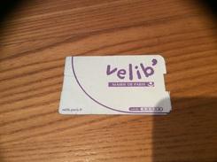 Ticket Velib' (MAIRIE DE PARIS) - Unclassified