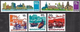 Singapore  1971  Sc#133-7 Tourism Set  MH  2016 Scott Value $15.75 - Singapore (1959-...)