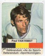 AUTOCOLLANT . STICKER . 1974 . CLARK  TENDERMINT .  LES AS DU SPORT BELGE .  PAUL VAN HIMST - Autocollants