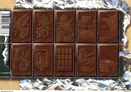 France.bloc Feuillet F4357 De 2009.le Chocolat.n**. - Sheetlets