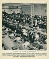 Ancienne Photo, Métiers (1955) : Un Atelier De Confection, Usine, Poste D'alimentation De L'atelier, Transporteur... - Old Paper