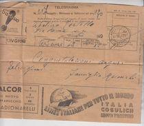 Storia Postale Telegramma Pubblicità Livorno 1936 - 1900-44 Vittorio Emanuele III