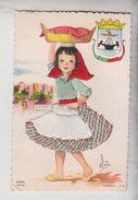 Carte Postale Brodée Lisboa Signée Varina No Vg - Embroidered