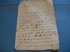 RARE LETTRE AUTOGRAPHE SIGNEE DE J.A. TRICAUD DE LA MOUTONNIERE 1655 LIEUTENANT GENERAL BAILLI DE BUGEY AIN - Autographes