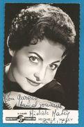 (A852) - Signature / Dédicace / Autographe Original - Michèle MATEY - Chanteuse - Autographes