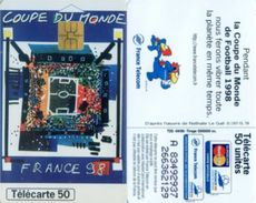 Telefonkarte Frankreich - Werbung - Fußball - Frankreich 1998  - 50 Units - 04/98 - Frankreich