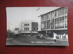 CPA PHOTO ROYAUME UNI PORTSMOUTH COMMERCIAL ROAD POLICIER VOITURE ANCIENNE - Portsmouth