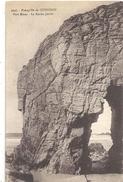 3646. Presqu'ile De QUIBERON . PORT-BLANC . LA ROCHE PERCEE . AFFR AU VERSO EN 1933 . 2 SCANES - Quiberon