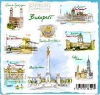 France.bloc No F4538 De 2011.capitales Européennes.budapest.n**. - Sheetlets
