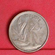 BELGIUM 20 FRANCS 1981 -    KM# 160 - (Nº19249) - 07. 20 Francs