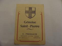 NONANT LE PIN  GENISE ST  PIERRE   C.FRESNAYE   TEL 50   ARRIERE DE CETTE CARTE DE VISITE IMMATRICULATION DES VOITURES - Advertising