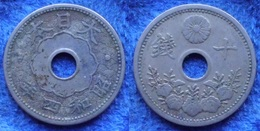 JAPAN - 10 Sen Year 4 (1929) Y# 49 Hirohito (Showa) - Edelweiss Coins - Japan