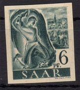 SARRE  1947 -  Imperforate   Stamp  Mi. 208U , Signed : DUB - MNH ** (  Cat 220 Eur ) - Allemagne