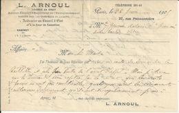 PARIS LOUIS ARNOUL LICENCIE EN DROIT HUISSIER AU CONSEIL D ETAT ANNEE 1909 - France