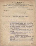 PARIS LOUIS ARNOUL LICENCIE EN DROIT HUISSIER AU CONSEIL D ETAT ANNEE 1910 - France