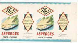 étiquette , 29.5 X 15.5 , ASPERGES ROC ,M. Bournier , Scorbe Clairvaux , Vienne , Frais Fr 1.65 E - Etiquettes