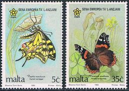 Malte - Papillons 893/894 ** - Papillons