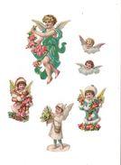 6   DECOUPIS    GAUFFRES  ANGELOTS   FLEURS - - Angeles