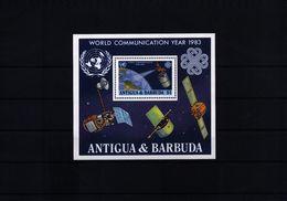 Antigua And Barbuda 1983 World Communication Year Michel  Block 70 Postfrisch / MNH - Space