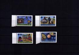 Antigua And Barbuda 1983 World Communication Year Michel  709-712 Postfrisch / MNH - Space