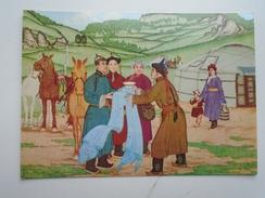 D155989  Mongolia  - Horses Costumes - Personaggi