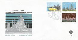 Netherlands Antilles 1974 Aruba Lago Oil Industry Minerals FDC Cover - Fabbriche E Imprese