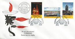 Netherlands Antilles 1965 Curacao Shell Oil Industry Minerals FDC Cover - Fabrieken En Industrieën